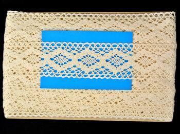 Cotton bobbin lace insert 75264, width43mm, ecru - 2