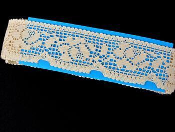 Cotton bobbin lace 75268, width 55 mm, ecru - 2