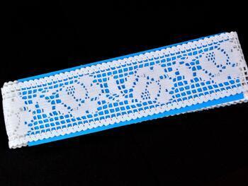 Cotton bobbin lace insert 75269, width53mm, white - 2