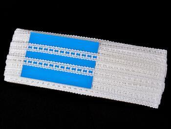 Paličkovaná vsadka 75279 bavlněná, šířka13 mm, bílá mercerovaná - 2