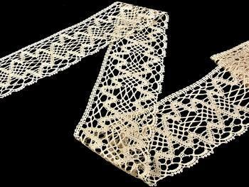 Cotton bobbin lace 75127, width120 mm, ecru - 2