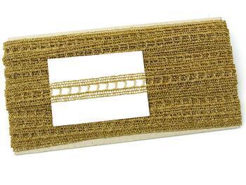 Metalic bobbin lace insert 75281, width18mm, Lurex gold - 2