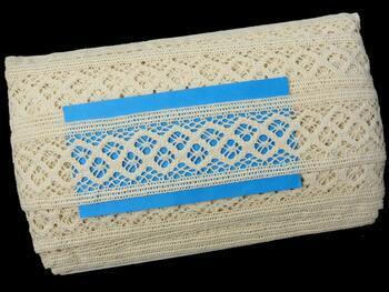 Cotton bobbin lace insert 75283, width53mm, ecru - 2
