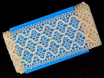 Cotton bobbin lace insert 75291, width30 mm, ecru - 2