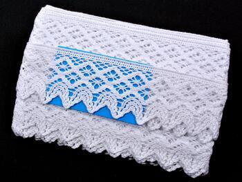Paličkovaná krajka 75293 bavlněná, šířka68 mm, bílá - 2