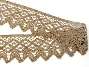 Bobbin lace No. 75293 dark beige | 30 m - 2