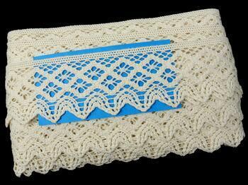 Cotton bobbin lace 75293, width 68 mm, ecru - 2