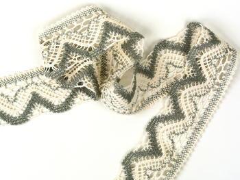Bobbin lace No. 75301 ecru/dark linen | 30 m - 2