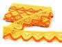 Paličkovaná krajka vzor 75301 žlutá/tmavě žlutá/sytě oranžová | 30 m - 2/4