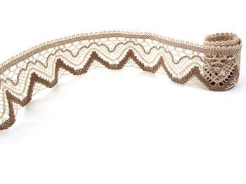 Bobbin lace No. 75301 beige/dark beige   30 m - 2