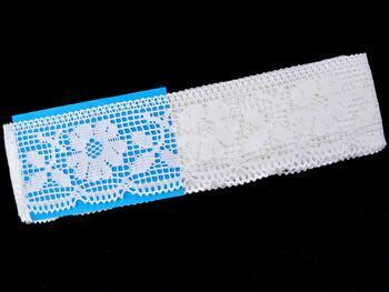 Cotton bobbin lace 75315, width 58 mm, white - 2