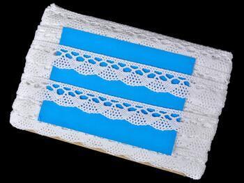 Cotton bobbin lace 75317, width 29 mm, white - 2