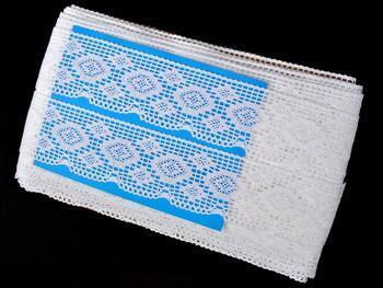 Paličkovaná krajka 75330 bavlněná, šířka46 mm, bílá - 2