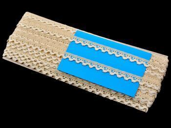 Paličkovaná krajka 75355 bavlněná, šířka10 mm, režná - 2
