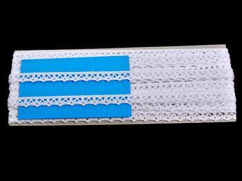 Paličkovaná krajka 75358 bavlněná, šířka10 mm, bílá - 2