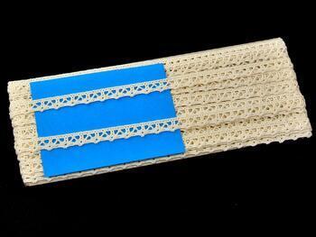 Paličkovaná krajka 75358 bavlněná, šířka10 mm, režná - 2