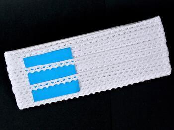 Paličkovaná krajka 75361 bavlněná, šířka9 mm, bílá - 2