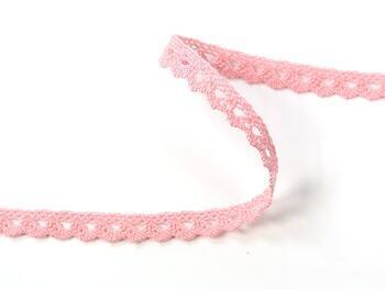 Cotton bobbin lace 75361, width 9 mm, pink - 2