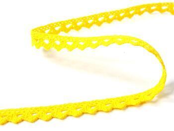 Paličkovaná krajka 75361 bavlněná, šířka9 mm, žlutá - 2