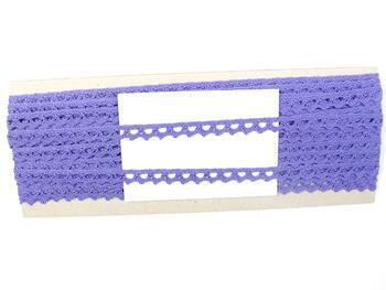 Paličkovaná krajka 75361 bavlněná, šířka9 mm, purpurová - 2