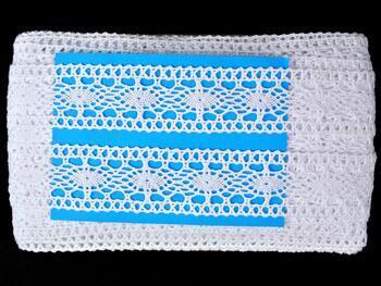 Paličkovaná vsadka 75384 bavlněná, šířka45 mm, bílá - 2