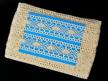 Cotton bobbin lace insert 75384, width45mm, ecru - 2