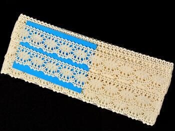 Cotton bobbin lace 75394, width 25 mm, ecru - 2