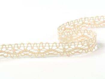 Cotton bobbin lace 75395, width 16 mm, light cream - 2