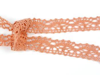 Cotton bobbin lace 75395, width 16 mm, salmon - 2