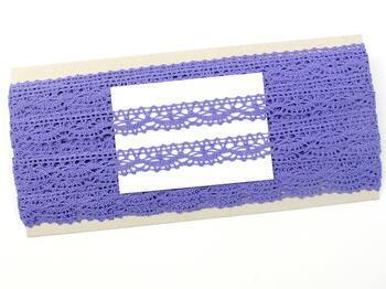 Paličkovaná krajka 75395 bavlněná, šířka16 mm, purpurová - 2