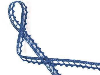 Paličkovaná krajka 75397 bavlněná, šířka9 mm, mořská modrá - 2