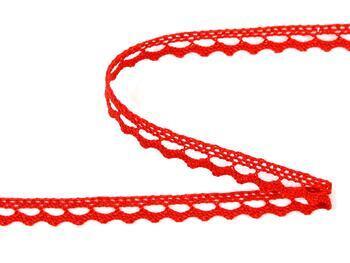 Paličkovaná krajka 75397 bavlněná, šířka9 mm, červená - 2