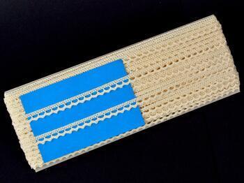 Cotton bobbin lace 75397, width 9 mm, ecru - 2