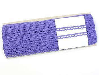 Cotton bobbin lace 75397, width 9 mm, purple II - 2