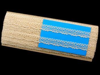 Cotton bobbin lace 75413, width 15 mm, ecru - 2