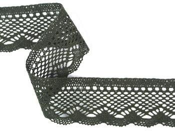 Bobbin lace No. 75414 dark olive | 30 m - 2