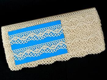 Cotton bobbin lace 75416, width 27 mm, ecru - 2