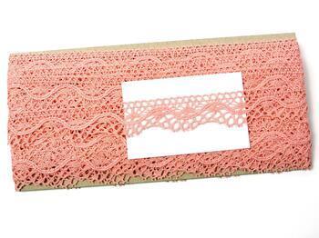 Paličkovaná krajka 75416 bavlněná, šířka27 mm, sv.růžová - 2