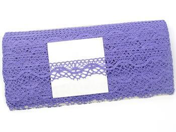 Paličkovaná krajka 75416 bavlněná, šířka27 mm, purpurová II - 2