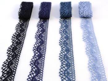 Paličkovaná krajka vzor 75416 blankytně modrá | 30 m - 2