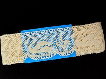 Cotton bobbin lace 75421, width 70 mm, ecru - 2