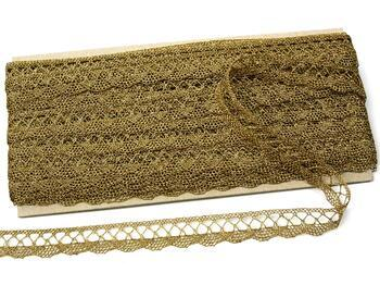 Metalic bobbin lace 75428, width 18 mm, Lurex gold antique - 2
