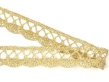 Bobbin lace No. 75428/75099 gold+white | 30 m - 2