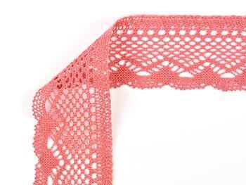 Cotton bobbin lace 75414, width 55 mm, rose - 2