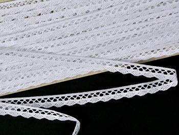 Paličkovaná krajka vzor 75512 bílá | 30 m - 2