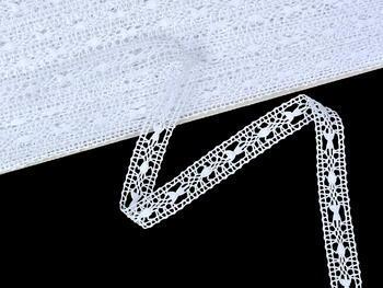 Paličkovaná vsadka vzor 75519 bílá | 30 m - 2