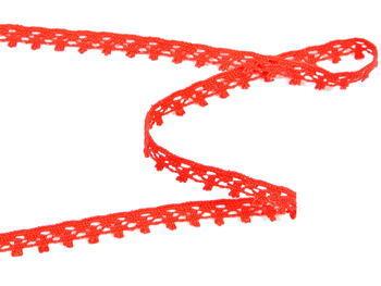Paličkovaná krajka vzor 75535 červená   30 m - 2