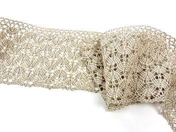 Bobbin lace No. 75542 natural/dark linen | 30 m - 2