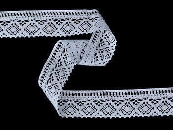 Paličkovaná krajka vzor 75559 bílá | 30 m - 2