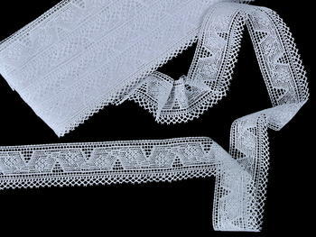 Bobbin lace No. 75587 white | 30 m - 2